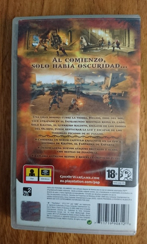 god of war - chains of olympus y ghost of sparta para psp