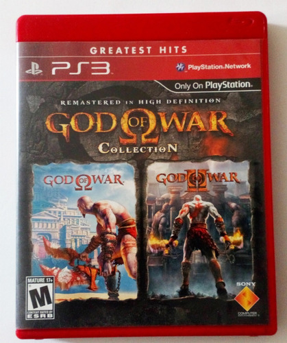 god of war collection 1 y 2 remaster ps3 usado