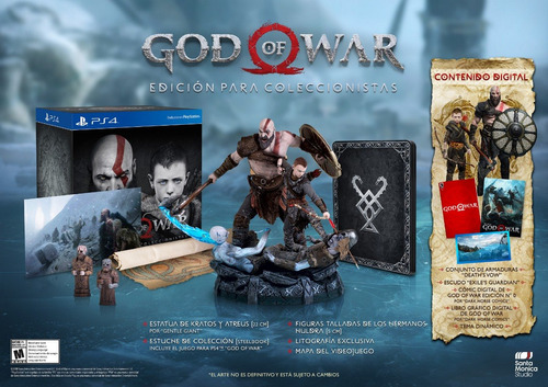 god of war - collector edition ps4
