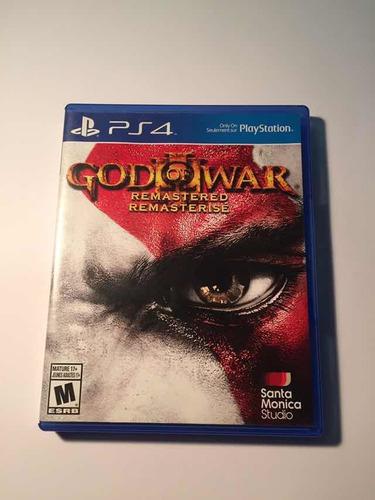 god of war iii remastered ps4 -1 solo uso en perfecto estado