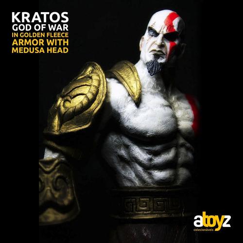 god of war - kratos com a cabeça de medusa - neca. p/entrega