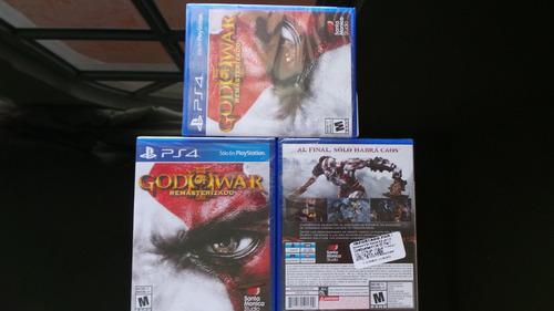god of war remastered ps4 nuevo, sellado