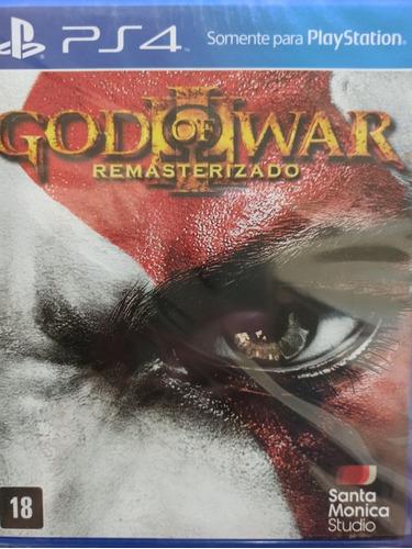 god of war remasterizado ps4 lacrado , novo , envio imediato