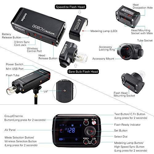 godox ad200 ttl 2.4g hss 1 /8000s pocket flash light doble