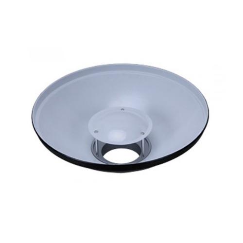godox beauty dish de 55 cm interior blanco con tela difusora montura bowens