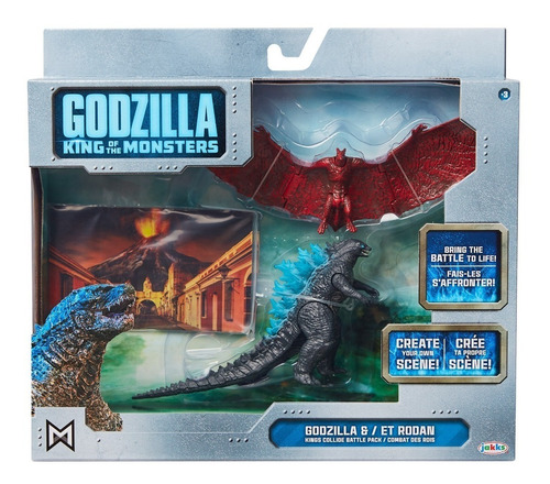 godzilla / et rodan / set / jakks / king of the monsters