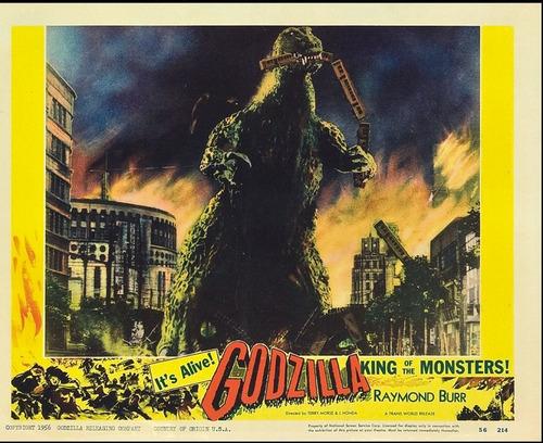 godzilla - lobby card del film de 1956