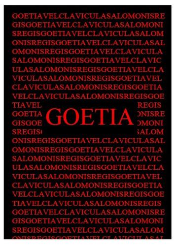goetia - clavicula salomonis regis