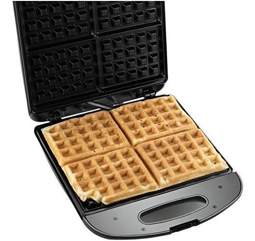 gofres,waffle maker, black & decker wm1240mb, plata