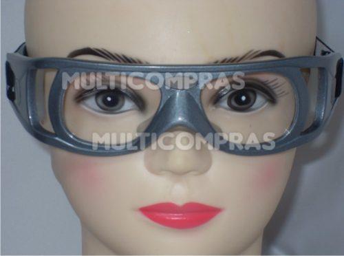 goggle deportivo para graduar oftalmico d policabonato gris