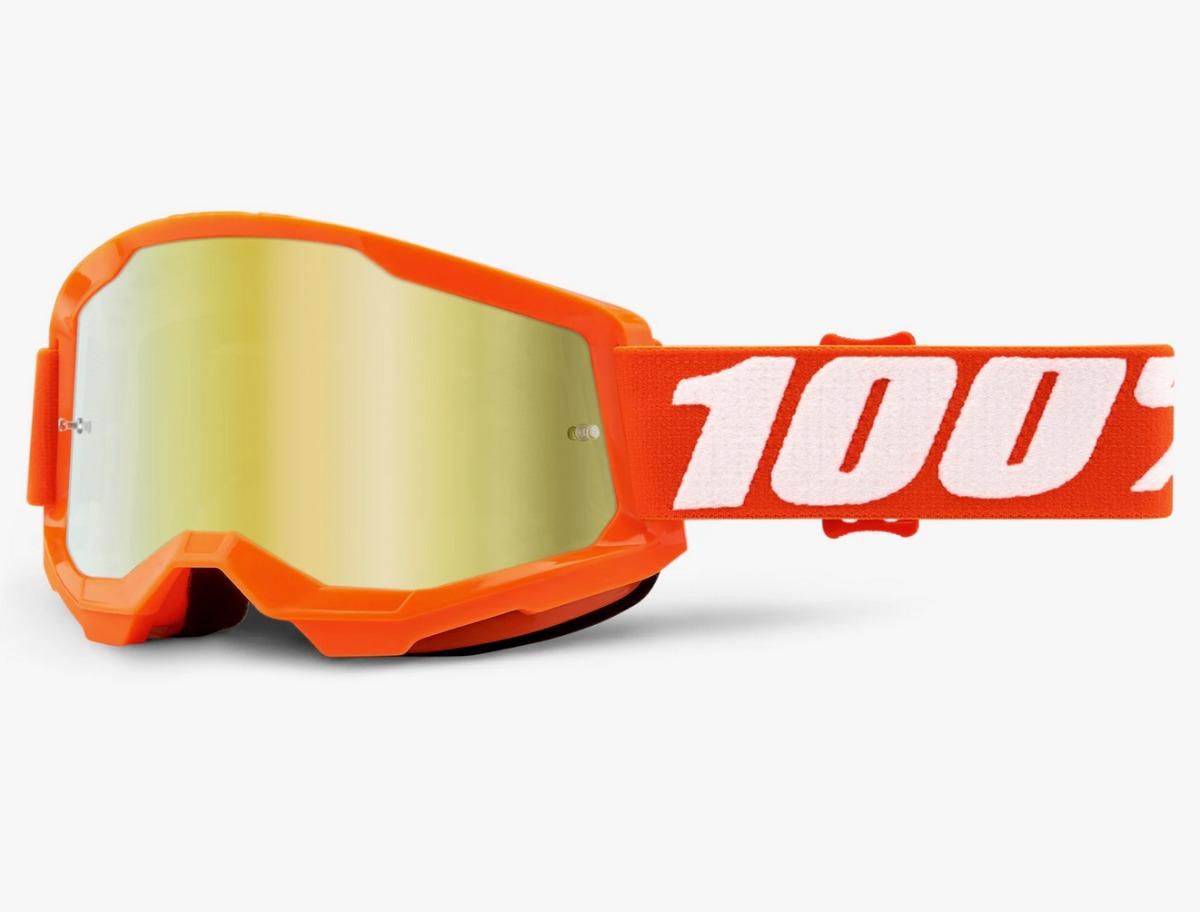 Motolinea Goggles 100 Strata 2 Naranja Mica Oro Motocross Enduro Ktm 1 099 00