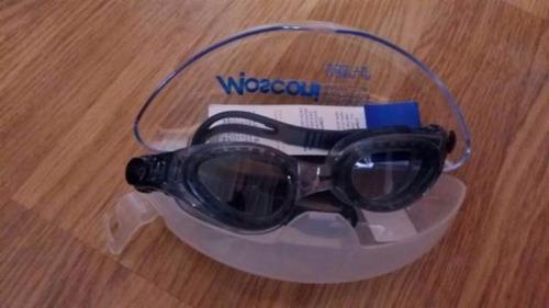 goggles de natación mosconi, lider jr. nuevos. negro y azul