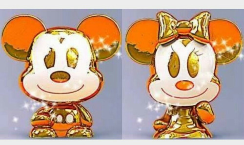 gogos disney - casal dourados - minnie e mickey