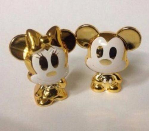 gogos mickey e minie dourados(casal)