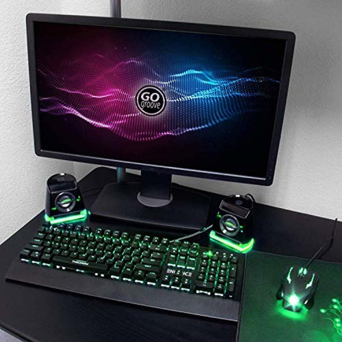 gogroove 2mx altavoces led para computadora
