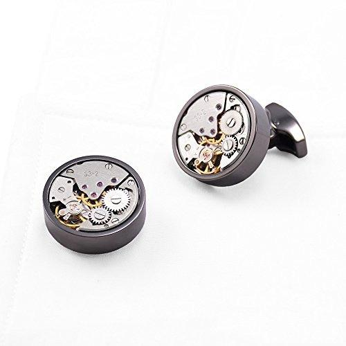 gohuos reloj steampunk movimiento gemelos mecánicos vi k52