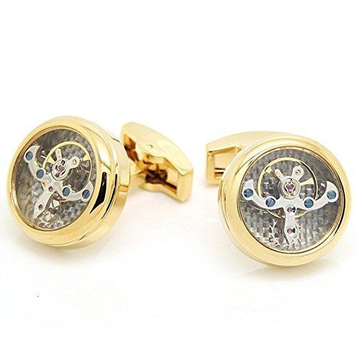 gohuos steampunk watch movement mechanical cufflinks old vi
