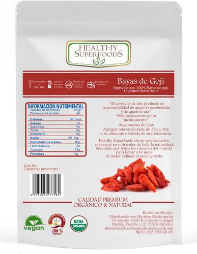 goji 1 kilo premium organicas certificadas envío gratis