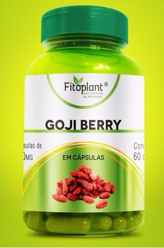goji berry 120 cáps. 500mg caixa c/ 12 potes