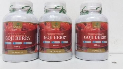 goji berry emagrecedor 60cps 500mg antioxisidante vit a,c,e