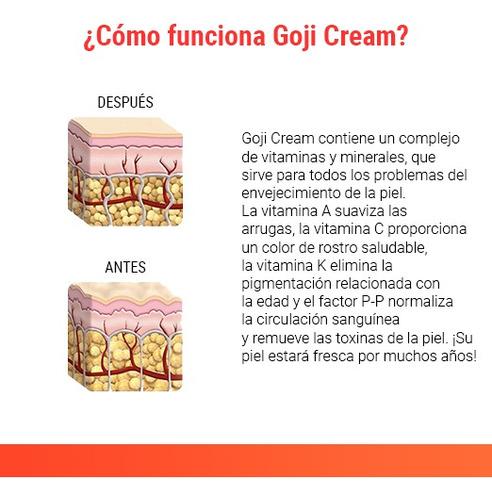 goji cream 1+1 - crema antiarrugas, nutrición e hidratación