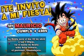 Goku Dragon Bal Invitación Digital Cómic