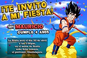 Lapiz De Dragon Ball Invitaciones Y Tarjetas De Cumpleaños