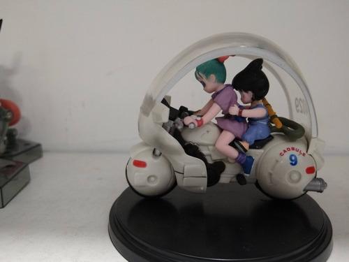 goku y bulman en motocicleta dragón ball