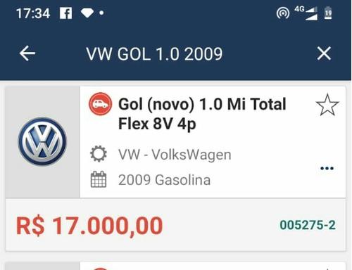 gol g5 2009 4 portas completo