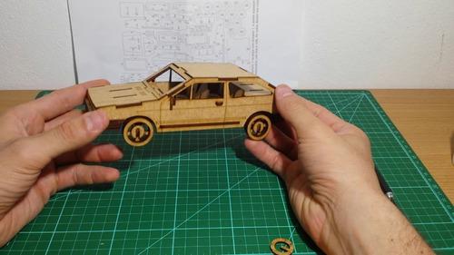 gol quadrado quebra cabeça 3d em madeira