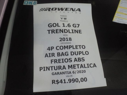 gol trendline 1.6 g7 4p completo