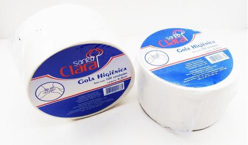 gola higiênica santa clara - rolo c/100 - barbearia - salão