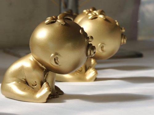 gold baby's  estuche con 10 bebes baby shower