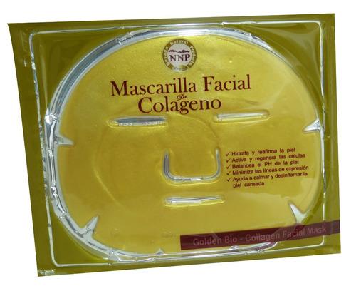 gold bio collagen facial mask - mascarilla facial de colagen