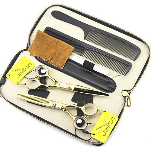 gold color professional barber scissors salon hair cutting s