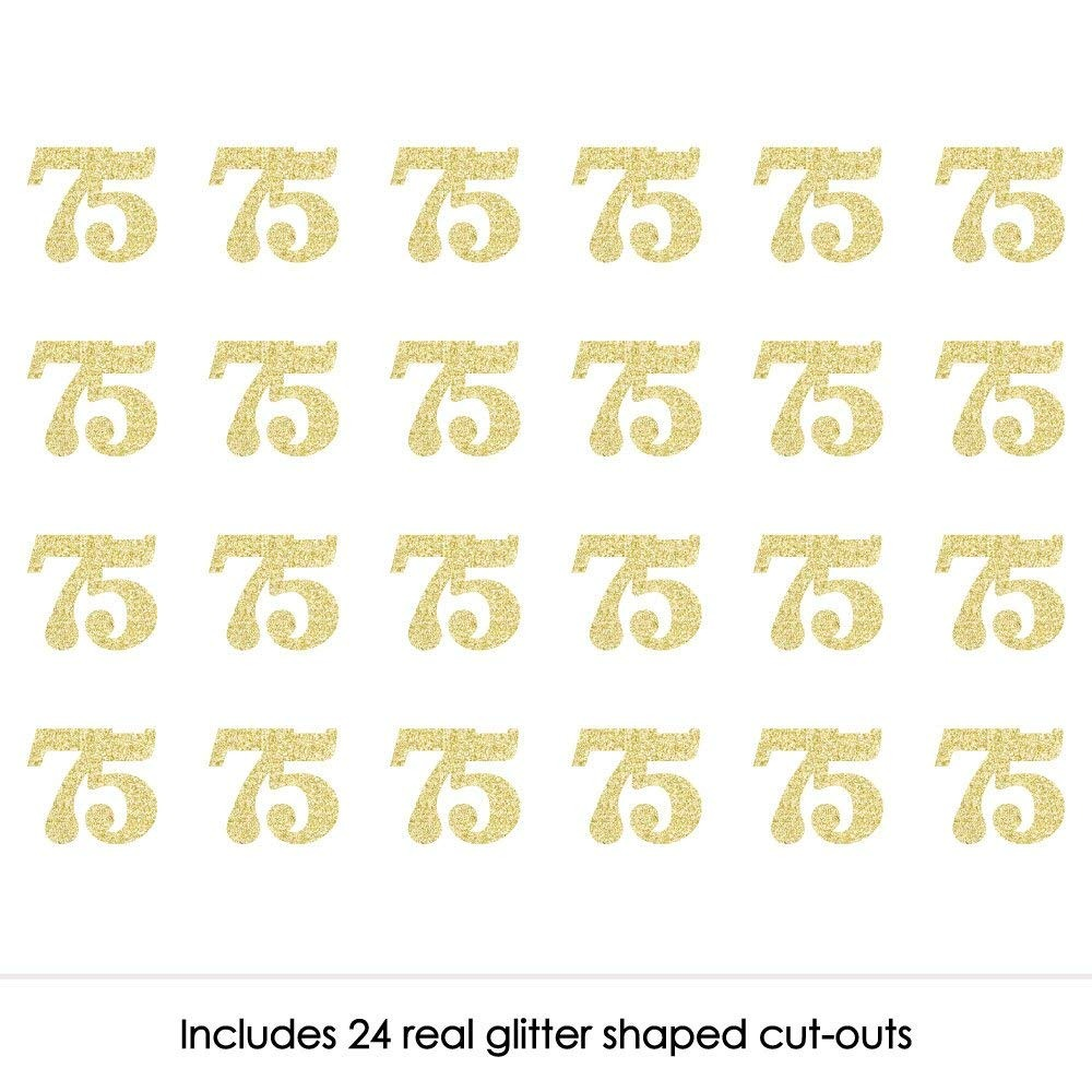 cfb4c3fe97fa Gold Glitter 75 - No-mess Real Gold Glitter Cut-out Numbers ...