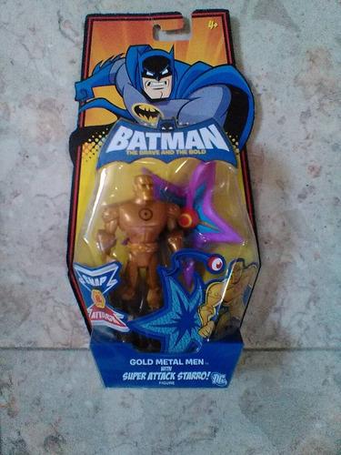 gold metal man batman the brave the bold envio gratis dhl