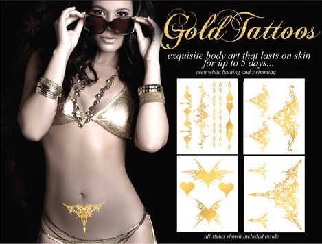 gold tattoo - tatuajes temporales dorados