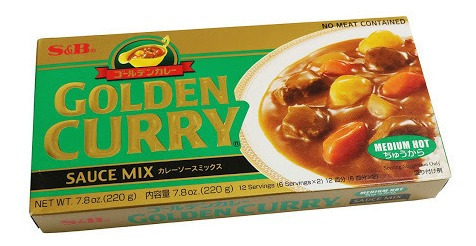 golden curry japanese medium hot s&b 220g grande