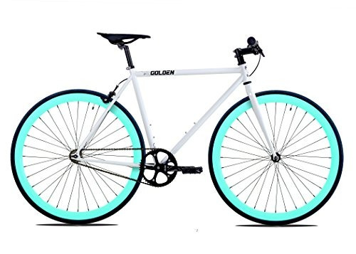 golden cycles fixed gear bike steel frame fixie with deep v