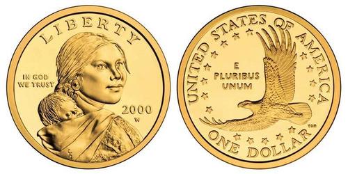 golden dolar, moneda conocida como dolar de oro sacagawea