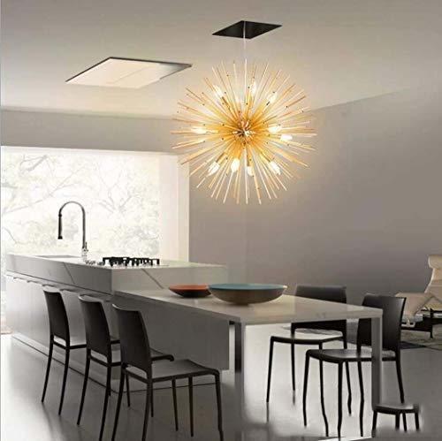 De Colgante Sputnik Techo Casquillo E14 Lámpara Dor Golden Yyvb7gf6