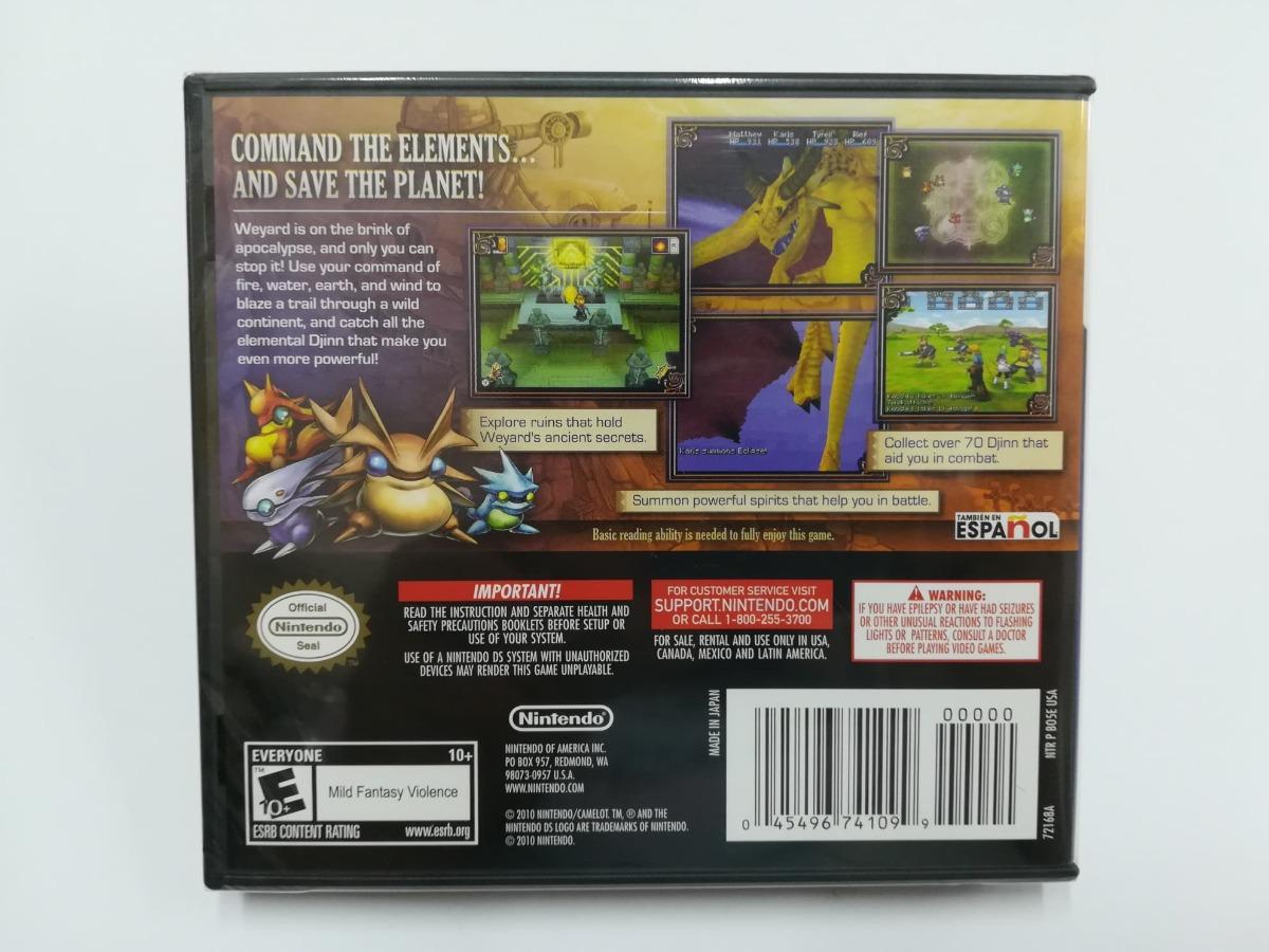 Golden Sun Dark Dawn Nintendo Ds - Rka