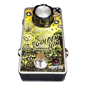 Golden Sun Pedal Overdrive Fuzz P/ Guitarra Monstro Effects