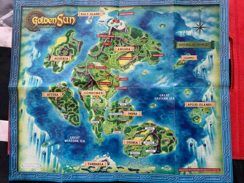Golden Sun The Lost Age Para Game Boy Advance (gba) - $ 1,100.00