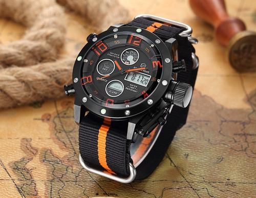goldenhour 106-c reloj hombre sport militar multifuncion