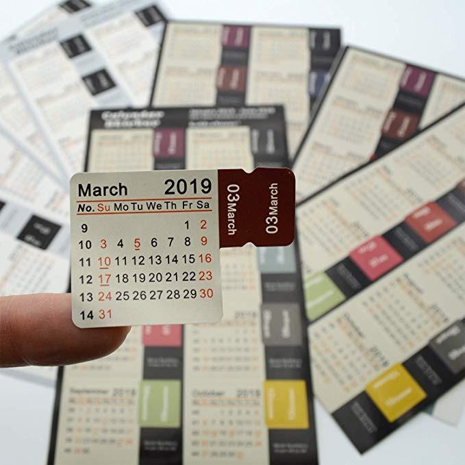 Calendario Diario 2020.Goldensunny 2019 2020 Calcomanias Calendario De Diario Plan