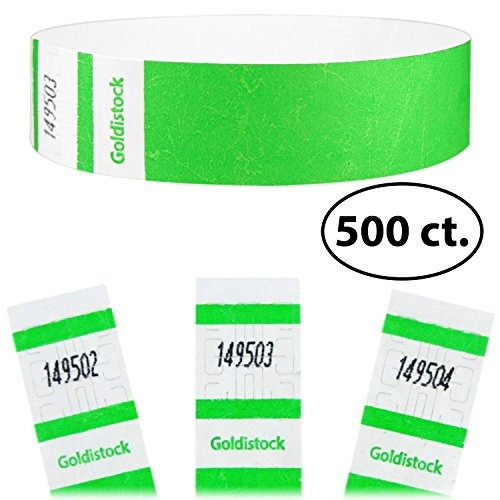 goldistock select series - 3/4 \count 500 pulseras tyvek vi