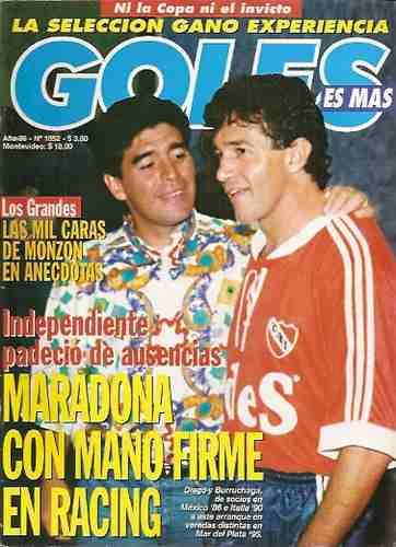 goles 1852 b- maradona / burruchaga - independiente
