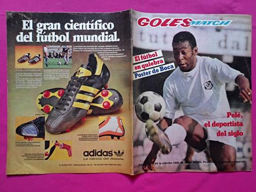 goles match suplemento de edicion n° 1690 pele poster boca